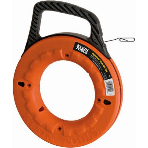 KLEIN TOOLS 25-FEET DEPTH FINDER HIGH STRENGTH 1/8-INCH WIDE STEEL FISH TAPE