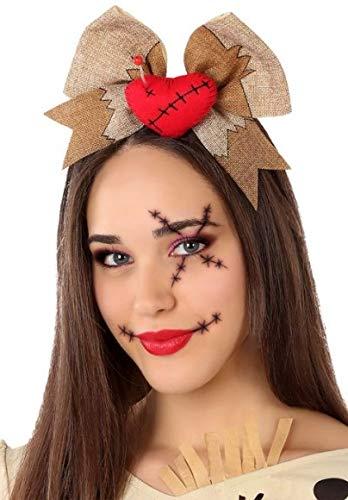 Fancy Me Damen Voodoo Puppe Halloween Stirnband Haarband Kostüm Outfit Zubehör (Voodoo Puppe Kostüm Zubehör)