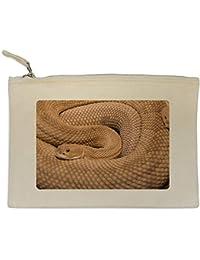 Azeeda Serpiente de Cascabel Bolso de Embrague / Accesorios Case (CL00004451)