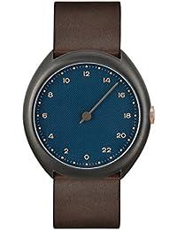 Slow O 14 Montre bracelet Mixte, Cuir, couleur: Marron foncé