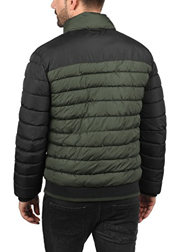 BLEND Gallus Herren Winterjacke Colour-Blocking Steppjacke mit Stehkragen aus hochwertiger Materialqualität Peat Green (77200)