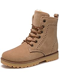 c0d1e838 Custome Mujer Hombre Unisex Botas Zapatos Invierno Martin Botas de Nieve  Fur Calentar Botines Planos Lana