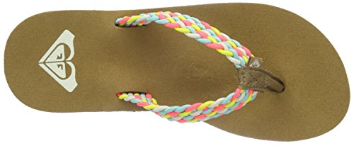 Roxy Porto Flip Flops, Tongs Femme Multicolore - Mehrfarbig(Multi)