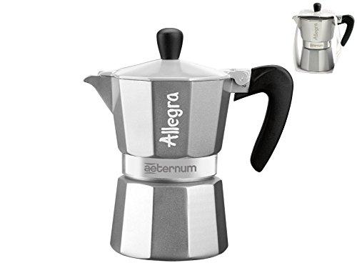 41CLirSNZTL - Bialetti Allegra Coffee Maker, Silver, 3 Cup
