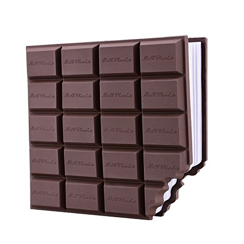ery Geschenk Set Kleine Schokolade Notizbücher Memo Book Pocket Bleistift Radiergummi Flexibel Bleistift Anspitzer für Kinder Klein Mädchen Weihnachten Geschenk 1 Packung Weiß ()
