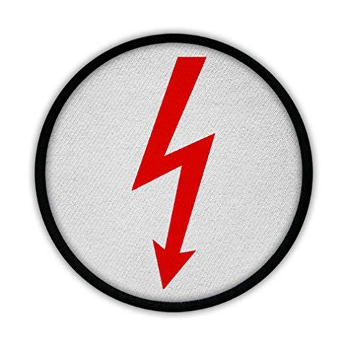 Copytec Patch Elektro Blitz Strom Hochspannung 24 V 12 V Elektriker Fun Spaß #15010