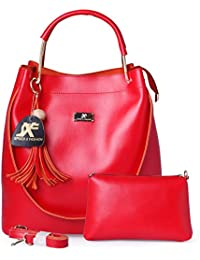 Speed X Fashion Women's Handbag With Sling Bag Combo (S00YTN-Red)