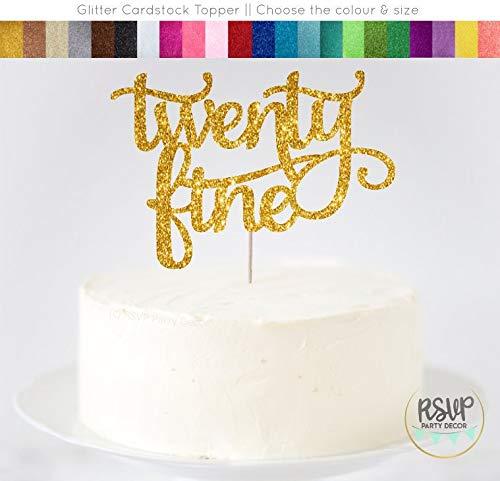 Andrea1Oliver Zwanzig feine Cake Topper zwanzig feine Zeichen zwanzig etwas Cake Topper 25. Cake Topper f¨¹nfundzwanzig Cake Topper Meilenstein Geburtstag