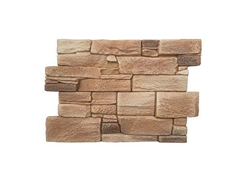 Rivestimento parete per cucina • camere da letto • balconi • salotto |  Arredamento per casa effetto pietra rustico | 60cm x 40cm (Granito Almond)
