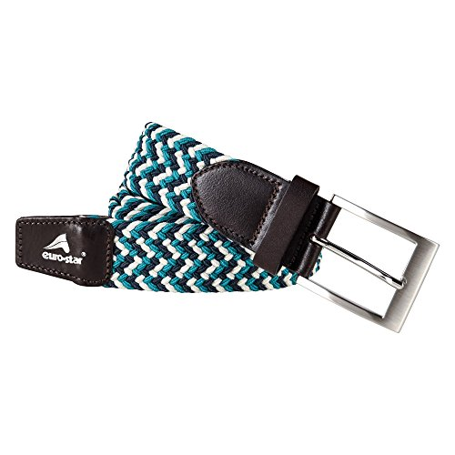 Euro-Star Zig Zag Belt - Colour Emerald - Size Large (95cm)