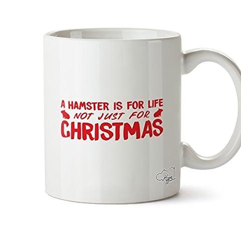 hippowarehouse einen Hamster ist für Leben nicht nur für Weihnachten 283,5Tasse, keramik, weiß, One Size (10oz)