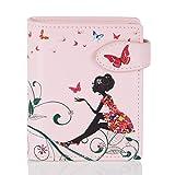 Shagwear Portemonnaie Geldbörse für junge Damen, Mädchen Geldbeutel Portmonaise Designs:, Schmetterling Oase Rosa/ Butterfly Oasis, SM