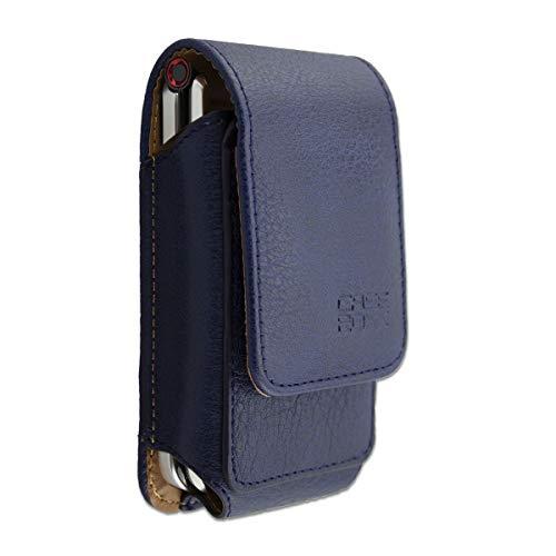 caseroxx Ledertasche mit Gürtelschlaufe für Emporia TOUCHsmart V188, Tasche (Ledertasche mit Gürtelschlaufe in blau)
