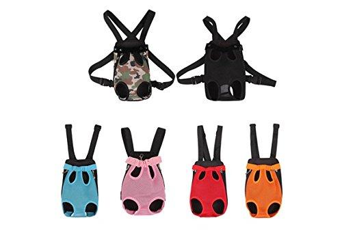 Nylon Pet Puppy Dog Carrier Backpack Front Net Bag Tote Carrier Sling Bag (color: Pink,size: S) (Carrier Dog Pet)