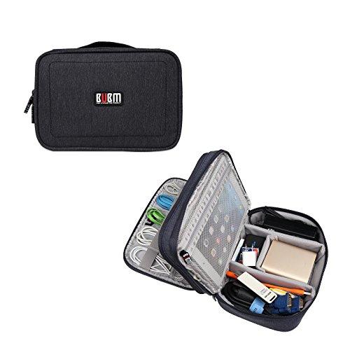 BUBM impermeabile Custodia da viaggio per digitale cavo dati USB Organizer Elettronica e Accessori Storage Bag Board nero Black
