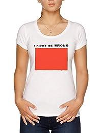 I Might Be Wrong Camiseta Mujer Blanco
