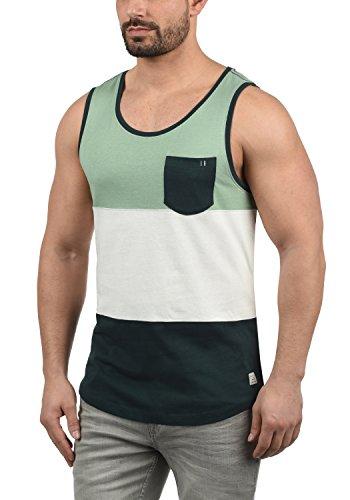 Blend Neo Herren Tank Top mit Rundhalsausschnitt und Brusttasche Regular Fit, Größe:L, Farbe:Pine Green (77023) -