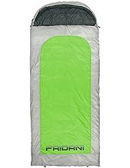 Fridani BG 235S XXL Camping Schlafsack bis -22°C Outdoor Deckenschlafsack 235x100 cm, Hüttenschlafsack mit 2700 g für 3 / 4 Jahreszeiten Frühling Sommer Herbst