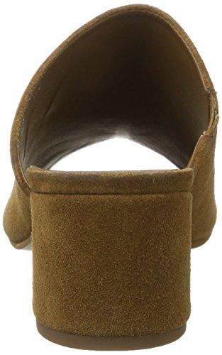 VERO MODA Damen Vmsila Leather Mule Sandalen Braun (Cognac)