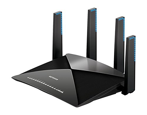 Netgear Nighthawk R9000-100EUS AD7200 Tri-Band Gigabit WLAN Router (funktioniert mit Alexa, 2 x 3.0 USB Ports, MU-MIMO, 1,7 Ghz Quad Core Prozessor, App-Managed, und 10G SFP+ Port) - Wireless-gaming-ethernet-karte