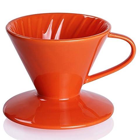 Sweese Porte-filtres à café en porcelaine Orange