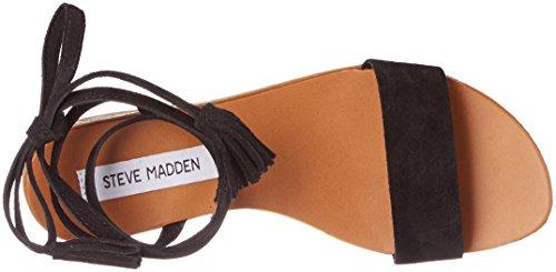 Steve Madden Damen Kapri Sandal Offene Schwarz (Black)