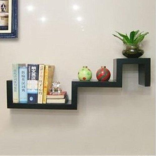 WANGS Wandhalterung Corner Shelf,Dekorative Wand Buch Regal Set Hängen Blume Rack Frei von Punch s-Form kreativen für Wohnzimmer Oder Schlafzimmer-B L85cm*W15cm*H15cm (S/b Punch)
