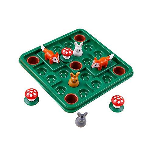 Pkjskh 60 Springen Hindernisse Spielzeug Eltern-Kind-Interaktion Pädagogische Logik Denken Training Spielzeug Doppel Menschen Schlacht Spaß Junge Mädchen Brettspiel Niedlichen Cartoon Lernspielzeug