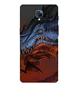 For OnePlus 3T Cartoon, Blue, Cartoon and Animation, Dragon, Printed Designer Back Case Cover By CHAPLOOS