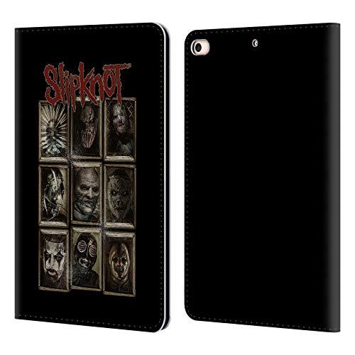 Head Case Designs Offizielle Slipknot Masken Kunst Leder Brieftaschen Huelle kompatibel mit iPad Mini (2019) (Slipknot Masken 2019)