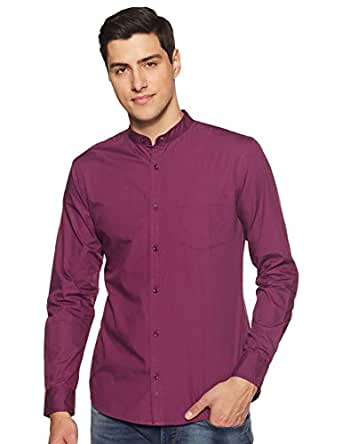 Amazon Brand - Symbol Men's Solid Regular Fit Casual Shirt