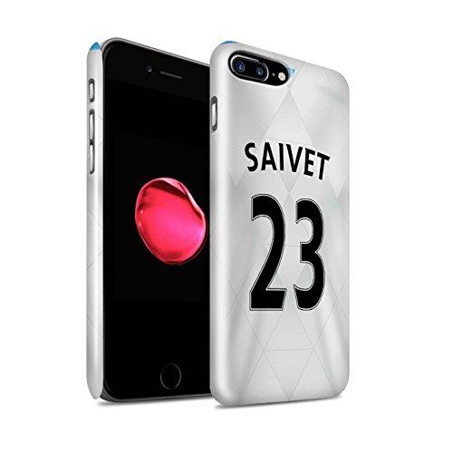 Officiel Newcastle United FC Coque / Clipser Brillant Etui pour Apple iPhone 7 Plus / Townsend Design / NUFC Maillot Extérieur 15/16 Collection Saivet