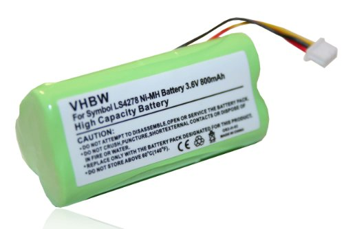vhbw Ni-MH Akku 800mAh (3.6V) für Barcode Scanner Symbol LS4278 wie BTRY-LS42RAAOE-01, 82-67705-01.