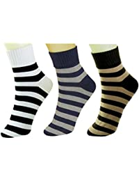 NeskaModa Men's Cotton Rich Multicolor 3 Pair Ankle Length Socks