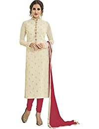 Impressed Collection White Georgette Party Wear Salwar Kameez