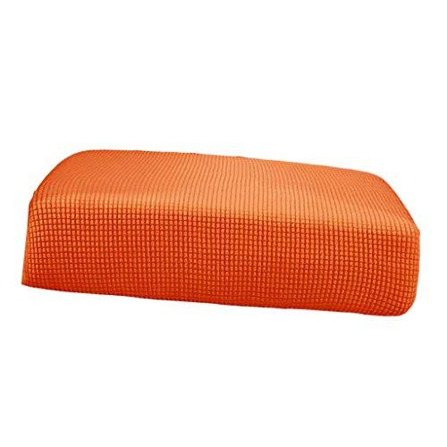 Unbekannt Dehnbare Sofa-/Futon-Sitzkissen, Sofabezug, Ersatzbezug, einfarbig, Größe L, Grün, Orange, S