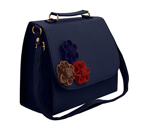 BFC-Women's Handbag, Sling Bag with Adjustable Strap for Ladies and Girls. (Dark Blue)