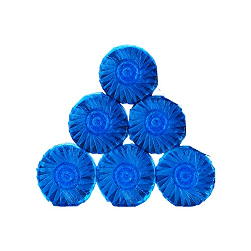 GYJ 6PC Scrubbing Bubbles Vanish Clean Toilet Reinigung Regenwald Rush Refill Drop in Tank Blue Discs Bowl Cleaner Balls Antibakterial (Scrubbing Bubbles Wc)