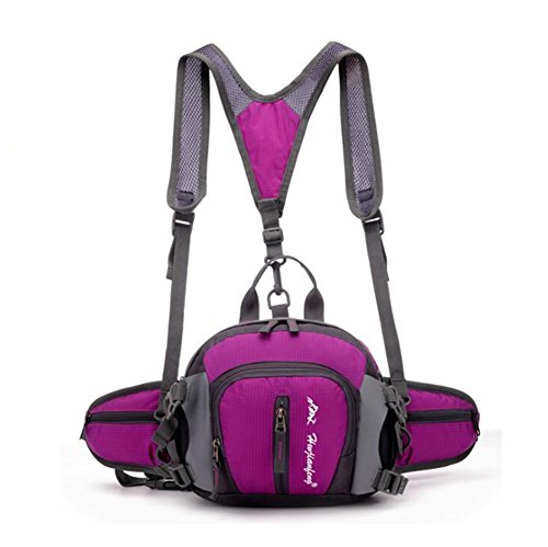 Wmshpeds Pacchetto esterno multi-funzionale lombare sport arrampicata borsa da viaggio viaggi di spalla zaino borsa sportiva E
