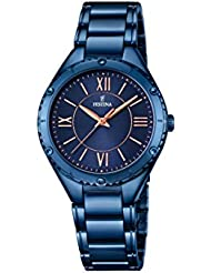 Festina Damen-Armbanduhr BOYFRIEND COLLECTION Analog Quarz Edelstahl F16923-2