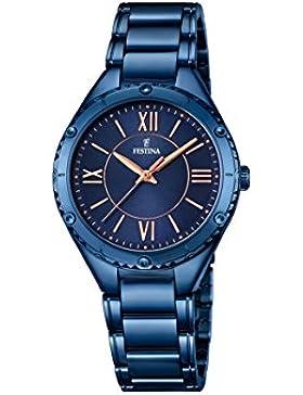 Festina Damen-Armbanduhr Journees Analog Quarz Edelstahl beschichtet F16923/2
