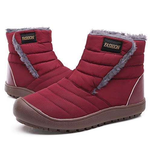 Yasuta Botas de Nieve Hombre Mujer Zapatos de Invierno Botines Forradas Boots Calientes Impermeables...