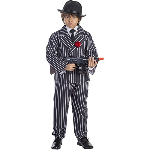Dress Up America Kinder Jungen Pinstriped Gangster ()