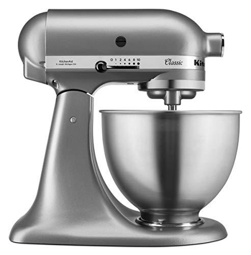 KitchenAid Robot pâtissier multifonction - Bol en acier 4,3L - Argent