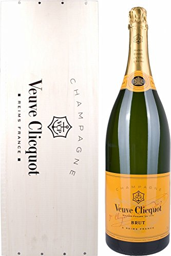 Veuve Clicquot Brut Yellow Label Jeroboam in Holzkiste (1 x 3 l)