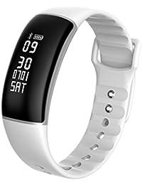 Pulsera Actividad,Monitor de Frecuencia Cardiáco,Pulsera Reloj Inteligente con Pulsómetro Impermeable,Podómetro