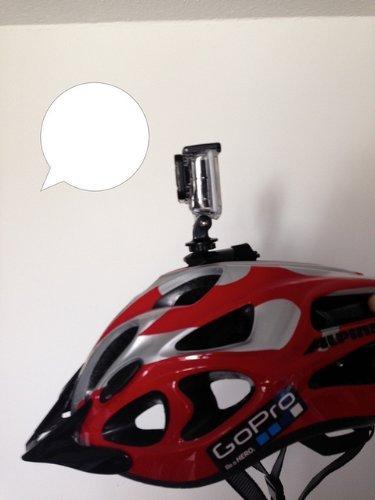 Fahrradhelm Halter Kletthalterung Klettverschluss Mastbaum Bike Helm Halter für Rollei 6s 7s cube Hero 1- 4
