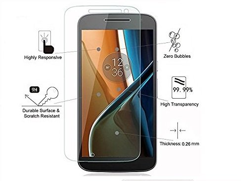 QuaGlass Tempered Glass Screen Protector for Motorola Moto G4 (2016)