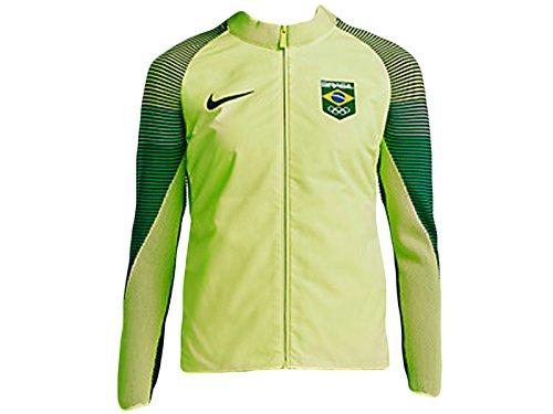 Nike Damen Sportswear Team Brasil Dynamic Reveal Jacke Volt 826614-709(M) - Track Nike Frauen Jacket