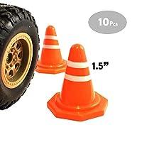 CG Mini Traffic Cones, R/C Racing Cones, Obstacle Course, Roadblock Toy - 4cm (Pack of 10)